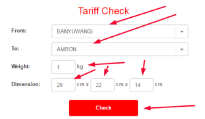 JET CO ID Express Services Tariff Check